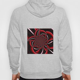 black and red abstract Hoody