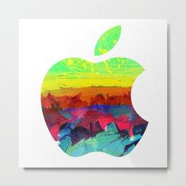 retro apple logo Metal Print