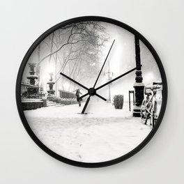 Snow - New York City - Bryant Park Wall Clock