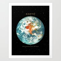 earth Art Prints featuring Earth by Terry Fan