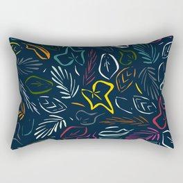 flora indigo Rectangular Pillow