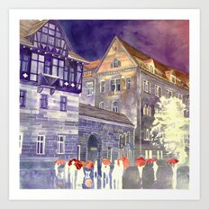 street in Poznan part 1 Art Print