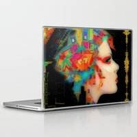 glitch Laptop & iPad Skins featuring Glitch by Steve W Schwartz Art