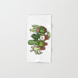 Green - Cactus and Hedgehog Hand & Bath Towel