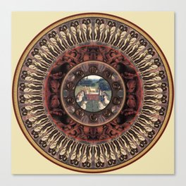 Mandala: Van Eyck (Tan) Canvas Print