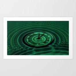 Hands of Time Green Rippling Water Art Motif Art Print