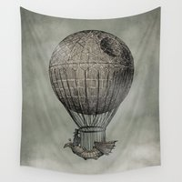 dark Wall Tapestries featuring Dark Voyage by Eric Fan