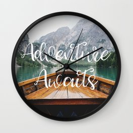 Live the Adventure - Adventure Awaits Wall Clock