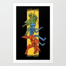 Universe Mighties Bounty Hunters Art Print