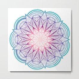 Starflower Mandala Metal Print