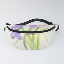 Purple Irises Fanny Pack