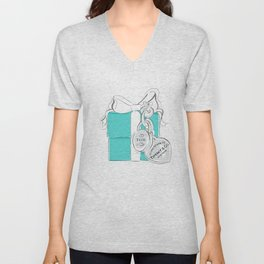 Blue Gift Box Unisex V-Neck