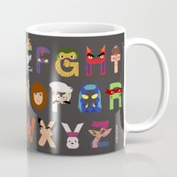 tmnt Mugs featuring TMNT ABCs by Mike Boon
