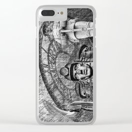 Landmarks 2 Black And White Clear iPhone Case