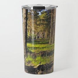 Dreaming Pine Trees in the Evening Light Travel Mug