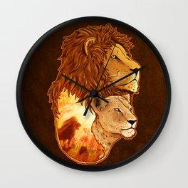 Lion Pride Wall Clock