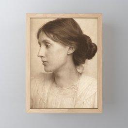 Virginia Woolf Vintage Photo,1902 Framed Mini Art Print