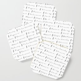 Classical Music Composers, pattern, Mozart, Beethoven, Chopin Coaster