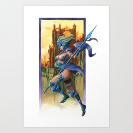 Sky Warrior Art Print