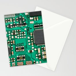 Electronic circuit board with processor Stationery Cards