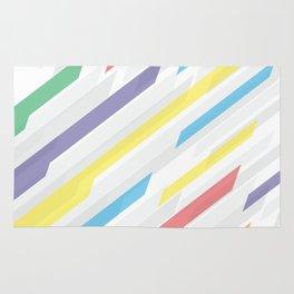 Tech geometric colorful lines background #society6 #decor #buyart #artprint Rug