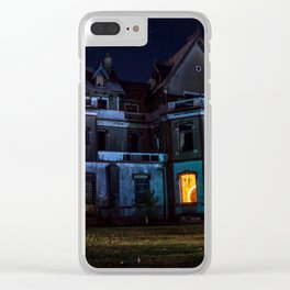 Castle on fire Clear iPhone Case