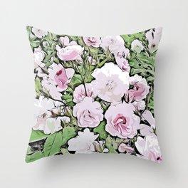 Vibrant Rose Garden Collection - Stanley Park, Vancouver Throw Pillow