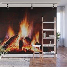 Fireplace Wall Mural