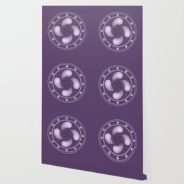 LAUBURU IN PURPLE (abstract geometric symbol) Wallpaper