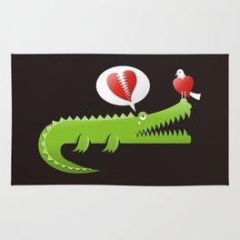 Alligator in Love Rug