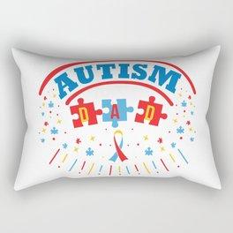 Autism Dad Autistic Awareness Day Asperger Gift Rectangular Pillow