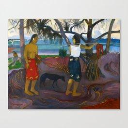 Under the Pandanus by Paul Gauguin Canvas Print