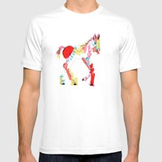 Baby horse colour Mens Fitted Tee White MEDIUM