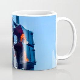 Orange color on the traffic light in Montreal Coffee Mug