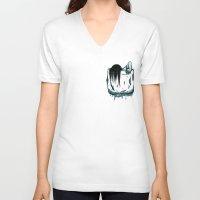 pocket V-neck T-shirts featuring Pocket Samara by Mike Handy Art
