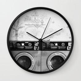 Vintage Laundromat Wall Clock