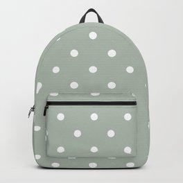 Polka Dots Pattern: Neutral Green Backpack