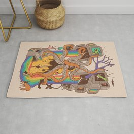 A Fragmented Reality Rug