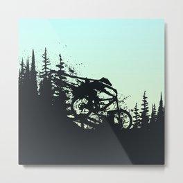 Drop and Ride Metal Print