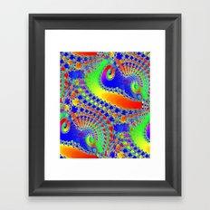 Rainbow Fractal Lace Framed Art Print