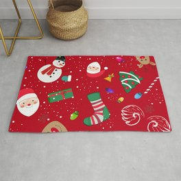 Happy New Year Theme Pattern Rug