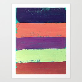 Abstract Painted Stripes #2 Art Print