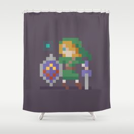Pixel Link Shower Curtain