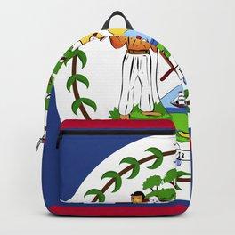 Belize flag emblem Backpack