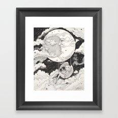 Moon Angel Framed Art Print