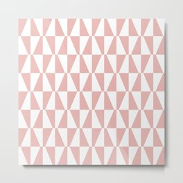 Mid Century Modern Geometric 313 Dusty Rose Metal Print