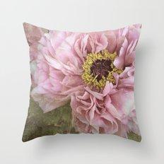 summertime peony Throw Pillow