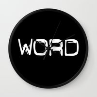 word Wall Clocks featuring WORD by unamerican