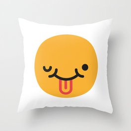 Emojis: Crazy face Throw Pillow