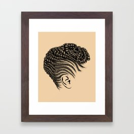 Crown: Braided Updo Framed Art Print